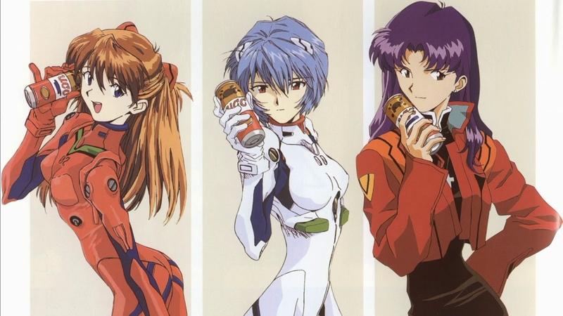 Neon Genesis Evangelion Fly Me To The Moon Asuka Rei Misato