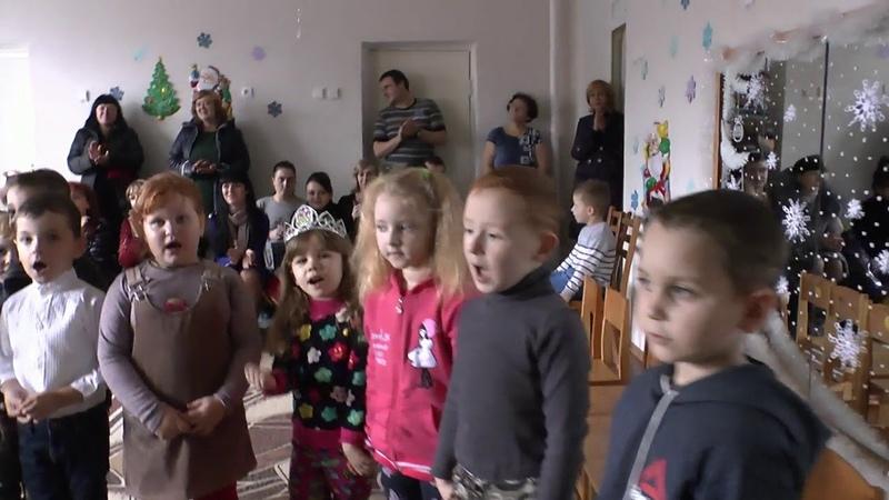 Поздравление деток с Новым Годом в садике г. Дебальцево