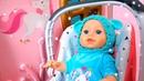 Видео про куклу Беби Бон где укрыться от снегопада Веселые клоуны, игры и домики для детей