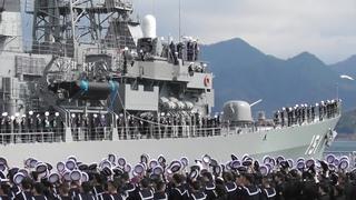 いってらっしゃい♪ 護衛艦あさぎり出国行事 第33次派遣海賊対処行動水上部隊 DSPE Japan Maritime Self-Defense Force 舞鶴地方隊 海上自衛隊 Japan 2019
