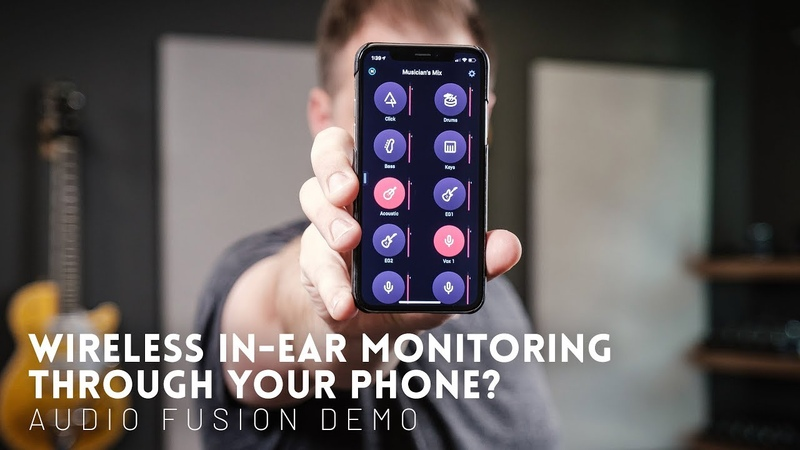 In ear monitoring through your phone! The future is now Audio Fusion In Ear Monitoring Demo