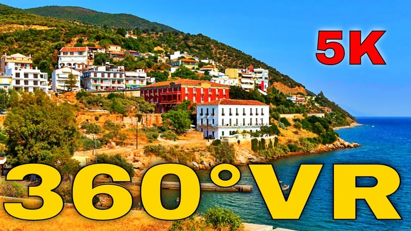 360° VR Hotel Rodon Visit Evia Edipsos Island Visit Euboea Greece Summer 5K 3D Virtual Reality HD 4K