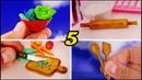 5 Coisas Fáceis de Fazer para Cozinha da Barbie Vídeo tutorial de miniaturas para bonecas