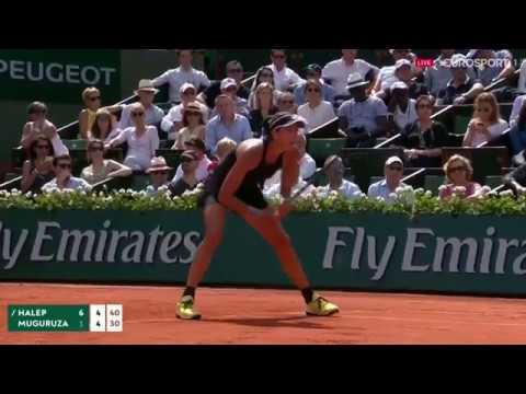 Simona Halep vs Garbine Muguruza French Open SF Highlights HD