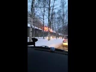 Пожар в деревяшке на Гагарина