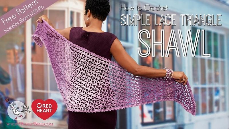 How to Crochet Lacy Isosceles Shawl Part 1 of 2