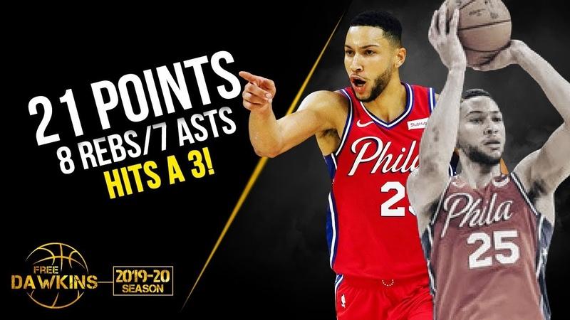Ben Simmons 21 Pts 8 Rebs 7 Asts 1 Three Pointer vs Guangzhou Long Lions 2019.10.08 FreeDawkins