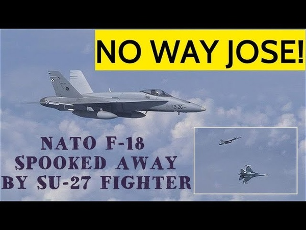 BREAKING! Russia's SU-27 Chases Away F-18 From Russian Defense Minister's Plane