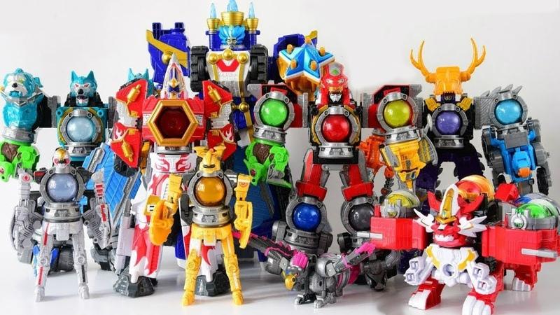 Power Rangers Uchuu Sentai Kyuranger Kyutama Gattai Kyurenoh combine Dinosaurs transformers robots