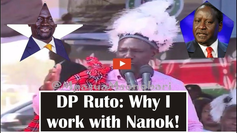 DP Ruto Comments on why he will continue working with Nanok Despite Raila Lecture to him