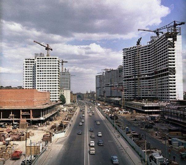 Калининский проспект строится, 1965 год... .Спасибо за и подписку