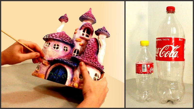 DIY Whimsy Fairy House Lamp Using Coke Plastic Bottles