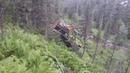 Экстремальное бездорожье. Спуск Унимога на страховке в долину реки Туралыг.
