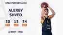 Star Performance Alexey Shved vs Zenit 30 PTS 13 AST 5 REB Season 2019 20
