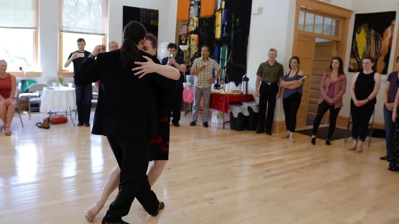 Erin Doruk demo at Salt Lake Tango Festival 2019 Porque regresas tu (Di Sarli)