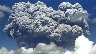 Soufriere volcano eruption in Saint Vincent and the Grenadines, Caribbean Sea