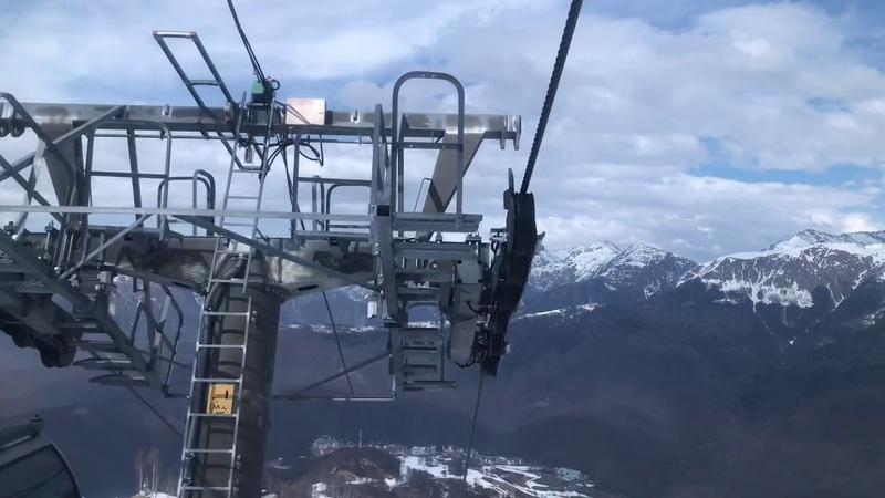 Спуск с высоты 2320 метров над уровнем моря Роза Пик