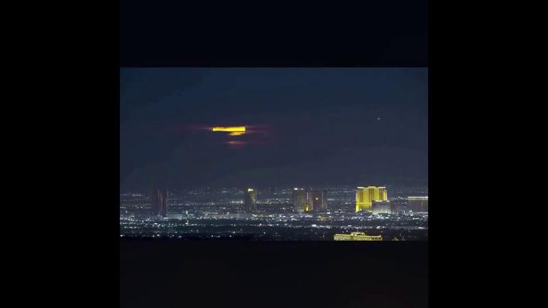 UFO over Las Vegas City night sky may14 2020