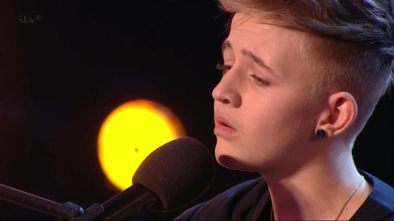 Britain's Got Talent S08E03 Bailey McConnell 14 year old Sings his original song