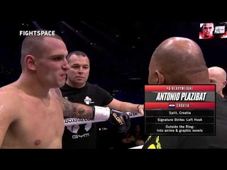 Glory 74: Антонио Плазибат — Джафарр Вилнис   Полный бой HD   Кикбоксинг