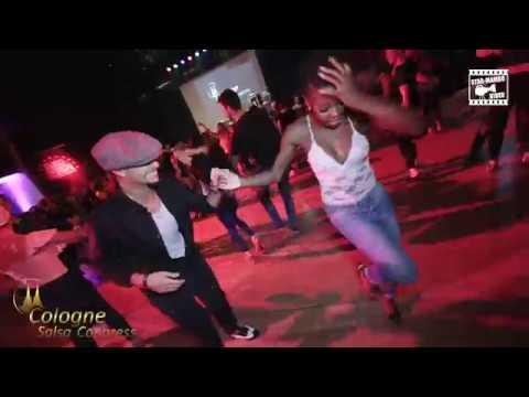 Eddie Torres Jr Inès social dancing @ Cologne Salsa Congress 2018