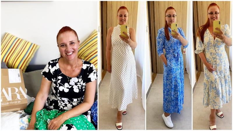 ВЛОГ ДЛЯ ЖЕНЩИН Мои новые платья Магазин на диване заказ ZARA Люда Изи Кук платья fashion dresses