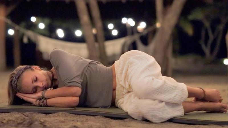 Bedtime Yoga Gentle Yoga With Deep Sleep Music To Relax Unwind