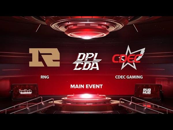 RNG vs CDEC Gaming DPL CDA Professional League Season 1 bo3 game 2 Eiritel Inmate