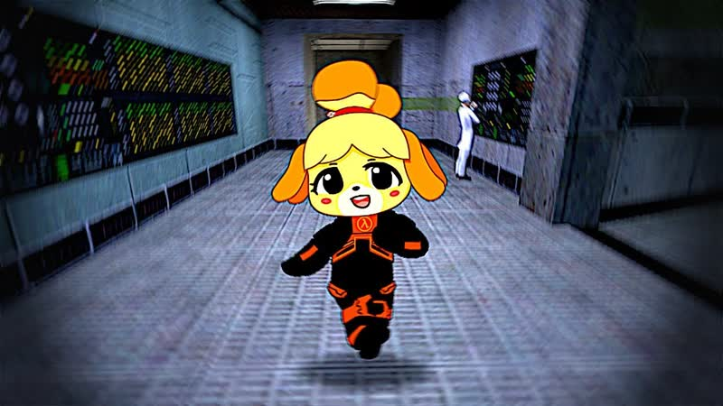 Isabelle Steps through Anomalous Materials to teleport to GameStop and get a copy of Doom Eternal