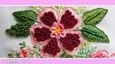 Brazilian embroidery Buttonhole stitch malina gm