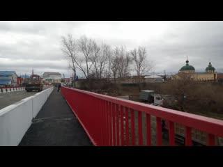 Долгодеревенское. Завершающие работы нашего моста через речку Зюзелга.