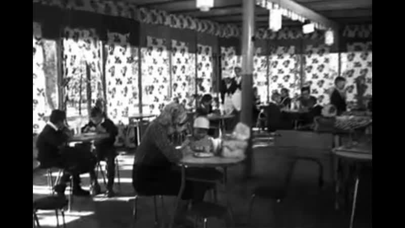 Кооперативные кафе в посёлке Краснокутский на Харьковщине фрагмент киножурнала Новости дня № 44 1966 г