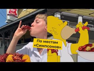 Две девушки повторили маршрут Гомера Симпсона и поели в 32 ресторанах