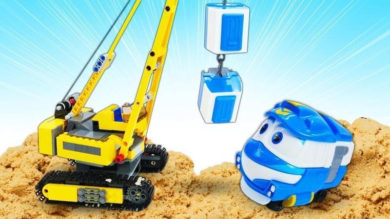 Мультики для детей про машинки на английском языке Роботы Поезда и железная дорога