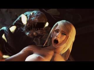 Samus fucked by an alien monster cock 3d hentai acg18