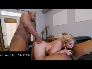 Adriana Chechik - Double Penetration Interracial Squirt petite blonde DP anal sex секс порно с неграми межрассовый мжм threesome