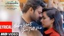 Saaho : Baby Won't You Tell Me Lyrical Song | Prabhas, Shraddha K | Shweta Mohan, Shankar Mahadevan