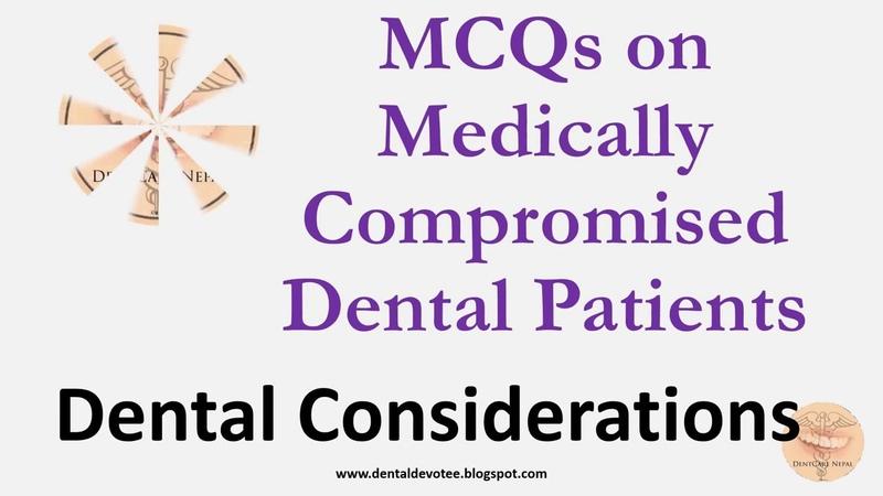 PARAMETRIC MCQ ON MEDICALLY COMPROMISED DENTAL PTSاسئلة البارومتريك للخليج والسعو 1583