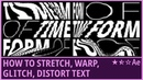 How to Stretch, Warp, Glitch, Distort Text (2) |Kinetic Typography|Slit-Scan | AfterEffects