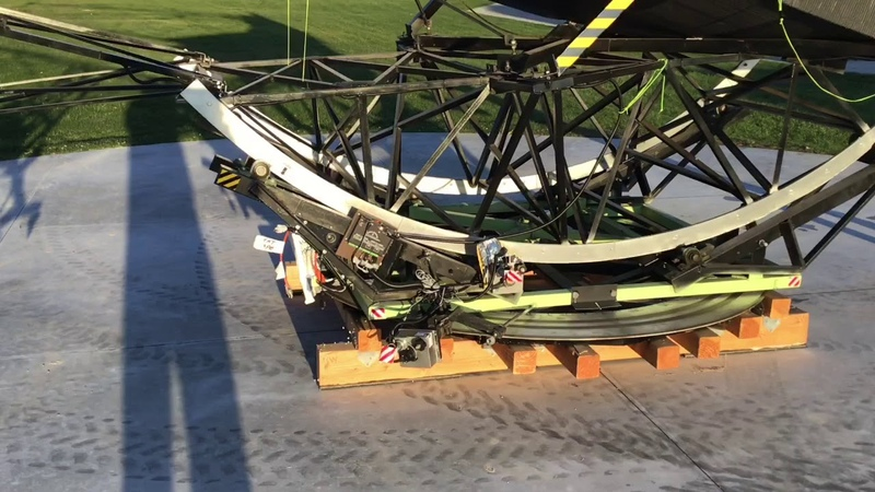 Clements 70 Inch Telescope Prepared For 2019 Season, includes mirror cover opening....extended video