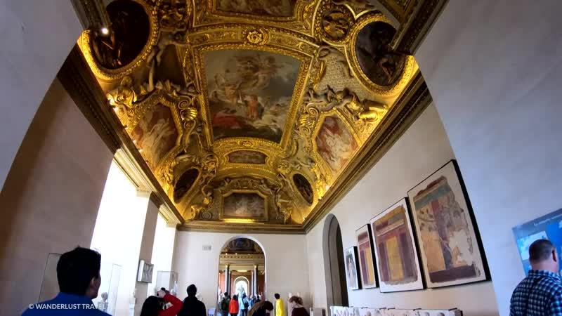 Прогулка по Лувру без комментариев.Virtual Tour Inside Louvre Museum Paris Mona Lisa Part 1 France