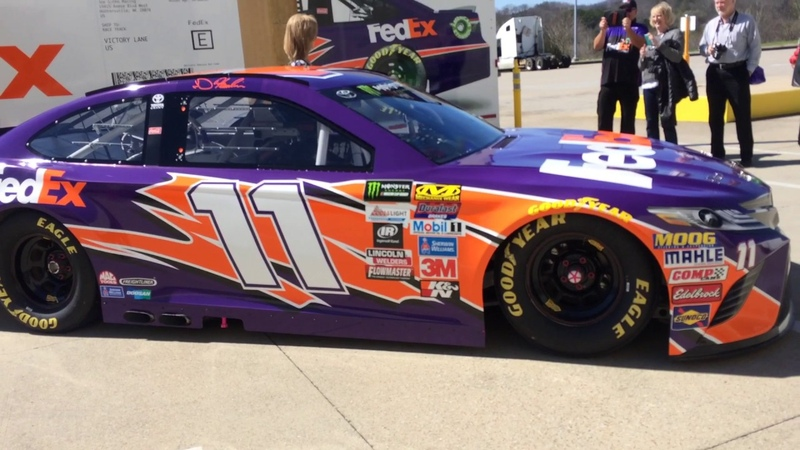 FedEx 2017 camry NASCAR racecar startup and idle