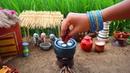 Miniature Idli Sambar recipe | Idly Recipe | Miniature Cooking 44 | Mini Foodkey