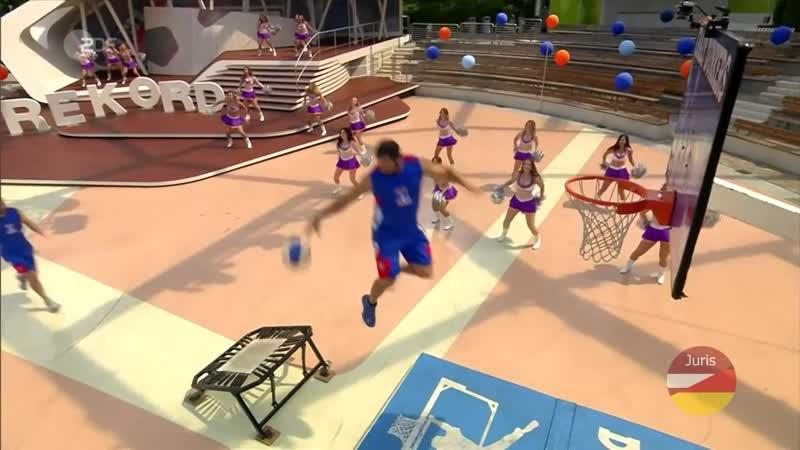 Basket acrobatique Crazy Dunkers 🏀⛹⛹⛹🏀 France ZDF Fernsehgarten 19 07 2020
