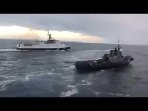 18 Давай!,дави его бл*ть!-как российские военные протаранили украинский буксир в нейтральных водах