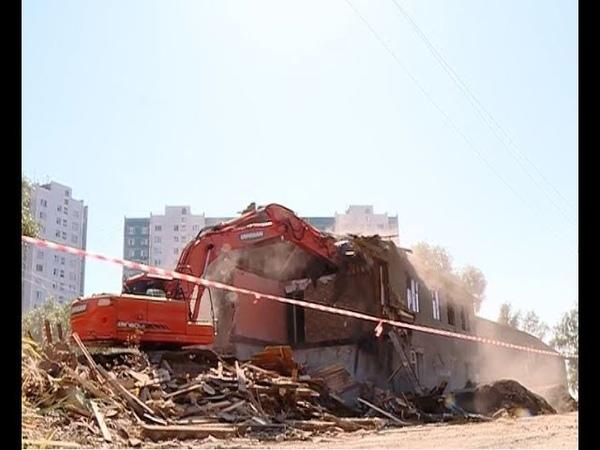 В Нижневартовске начались работы по сносу расселённых домов