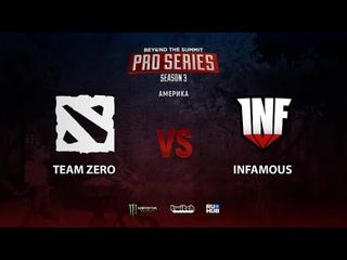 Team Zero vs Infamous, BTS Pro Series Season 3: Americas, bo2, game 2 [Smile & Eiritel]