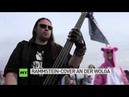 Rammstein-Cover am Ufer der Wolga: 150 russische Musiker spielen Du hast bei Rock-n-mob