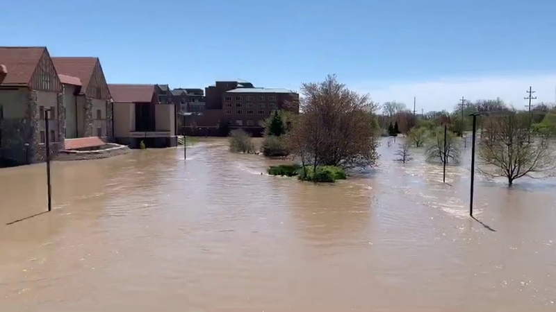 Downtown Midland under water as historic flooding event slams mid Michigan