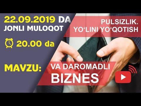 №2 Pulsizlik - O'z yo'lini yo'qotib qo'yish va Daromadli biznes boshlash | Jonli muloqot | LIVE